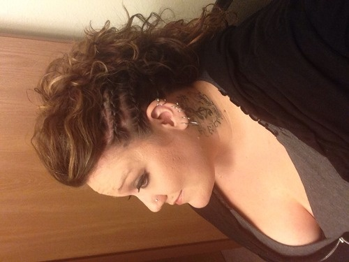 Out on the town braid - Mohawk of curls  - 2a, 2b, 3a, Medium hair styles, Updos, Long hair styles, Readers, Female, Curly hair, Teen hair, 2c, Adult hair, Prom hairstyles, Formal hairstyles, Homecoming hairstyles Hairstyle Picture