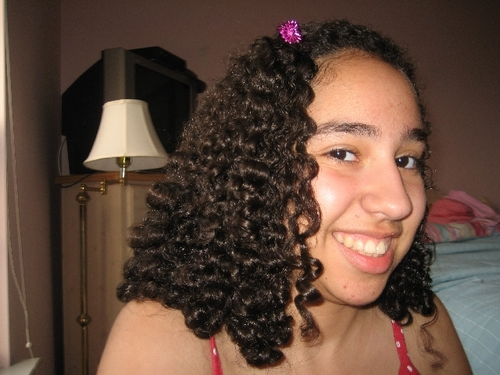 My unique shoulder-length style - Brunette, 3b, Medium hair styles, Kids hair, Twist hairstyles, Summer hair, Spring hair, Fall hair, Readers, Female, Curly hair, Teen hair, Black hair Hairstyle Picture