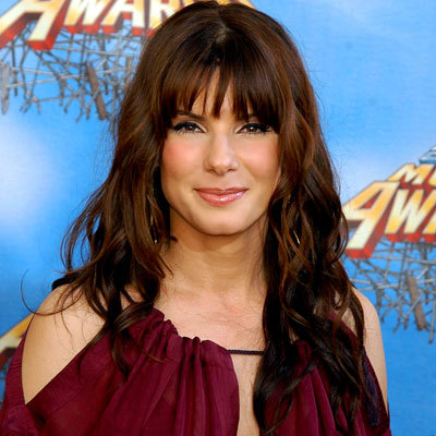 Sandra Bullock - Brunette, Celebrities, Wavy hair, Long hair styles, Female Hairstyle Picture