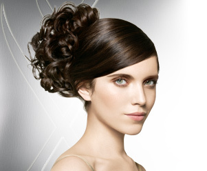 Nexxus - Brunette, 3a, Medium hair styles, Updos, Long hair styles, Styles, Special occasion, Female, 2c Hairstyle Picture