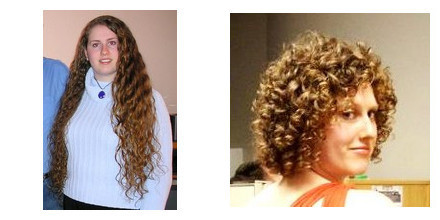Ms. Temple - Blonde, 3b, Short hair styles, Female, Curly hair, Makeovers, Deva Curly Girl Challenge Hairstyle Picture