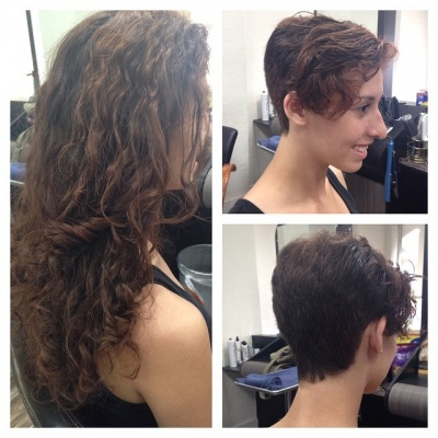 Cutting Long Curly Hair Short Best Short Hair Styles