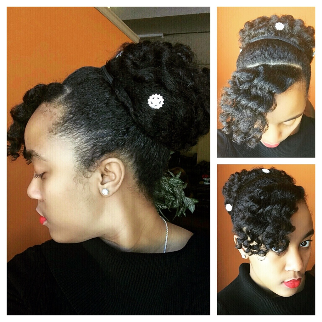 Outstanding Perm Rod Curls Updo By Nknaturals Short Hairstyles For Black Women Fulllsitofus